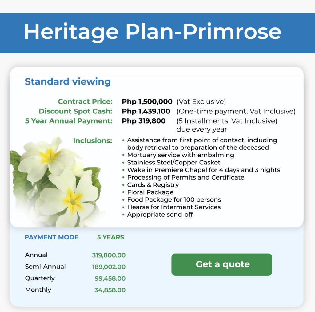 Heritage Plan Primrose