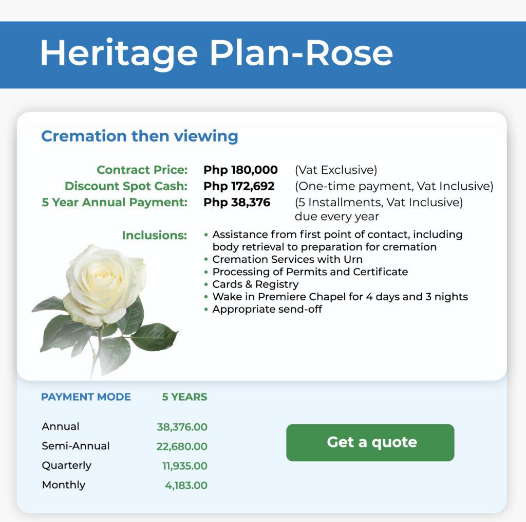 Heritage Plan Rose